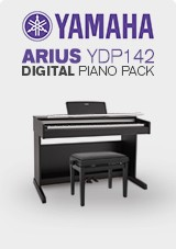 Yamaha Arius YDP142 Black Walnut with Bench and Headphones