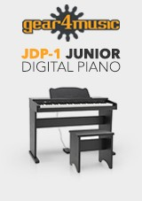 JDP-1 Gear4music - Piano Digital Júnior, Preto Mate