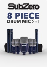 SubZero 8 Piece Drum Mic Set