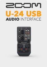 Zoom Interface de áudio USB U-24