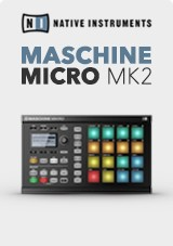 Native Instruments Maschine Mikro MK2, Preto