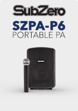 SubZero SZPA-P6 PA tátil com leitor de mídia Digital + Wireless Mic