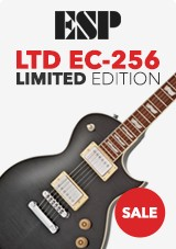 ESP LTD EC-256 Limited Edition, Transparent Black