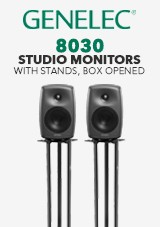 Genelec 8030 Studio Monitors com Suportes, Box Opened