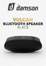 Damson Vulcan Bluetooth Speaker, Black
